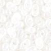 Bow Beads (Farfalle)-cut 2X4mm White Ceylon Aurora Borealis